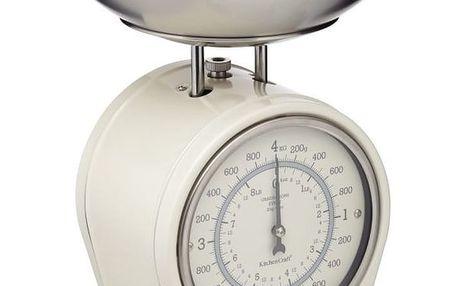 Krémová kuchyňská váha Kitchen Craft Living Nostalgia, nosnost 4kg