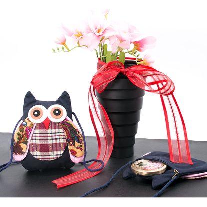 Dětská mini kabelka se sovičkou