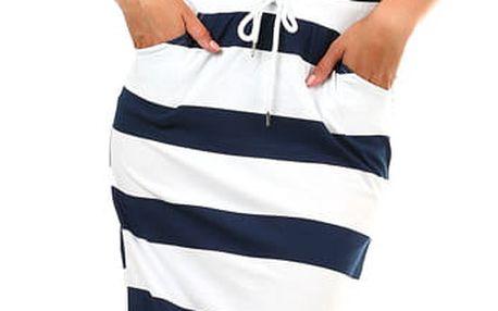 Dámská dlouhá pruhovaná sukně bílá