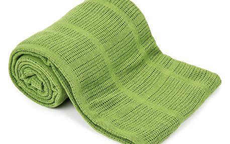 VOG Bavlněná deka zelená, 150 x 200 cm