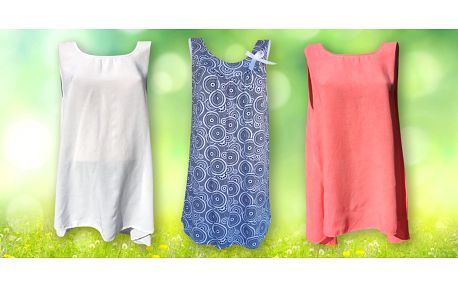 Elegantní letní tuniky: jednobarevné i se vzory