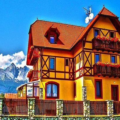 Vysoké Tatry v oblíbeném penzionu pod Lomnickým Štítem se saunou, fitness a balíčkem slev