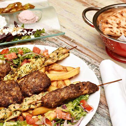 Pestré 2chodové řecké menu pro 2 v Dejvicích