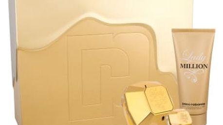Paco Rabanne Lady Million dárková kazeta pro ženy parfémovaná voda 80 ml + tělové mléko 100 ml + parfémovaná voda 5 ml
