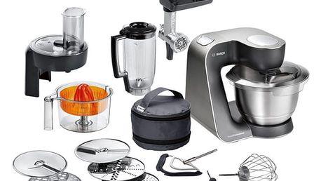 Kuchyňský robot Bosch MUM57860 černý/stříbrný