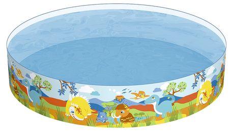 Bazén s pevnou stěnou BESTWAY Dinosaurus 244 x 46 cm