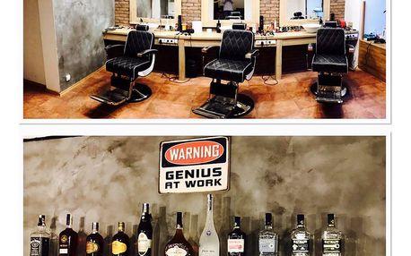 Střih nebo holení ve stylovém pánském barbershopu