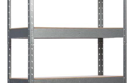 Kovový regál s 5 policemi, 175 x 90 x 40 cm