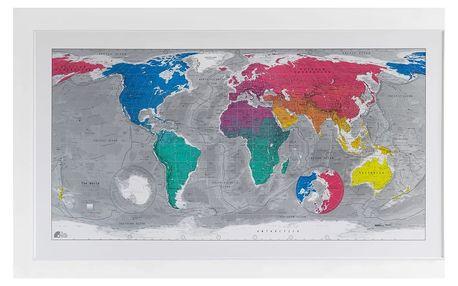 Magnetická mapa světa The Future Mapping Company Colourful World, 130x72cm