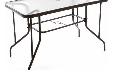 Garthen 37022 Zahradní stolek se skleněnou deskou 110 x 60 x 72 cm
