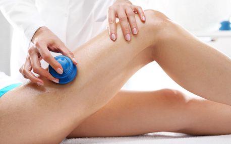 Anticelulitidní masáž pryžovými baňkami + termozábal