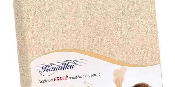 Bellatex Froté prostěradlo Kamilka světle béžová, 200 x 220 cm