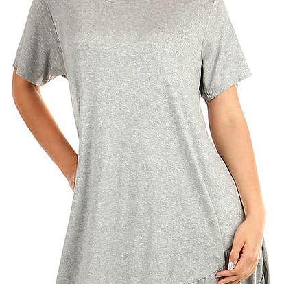 Dámské plážové šaty i pro plnoštíhlé šedá