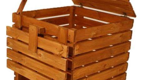 Gaboni 55348 Zahradní dřevěný kompostér - 600l
