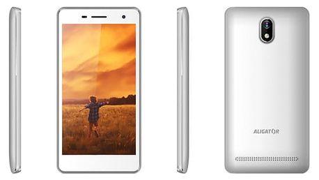 Mobilní telefon Aligator S5065 Dual SIM (AS5065WT) bílý