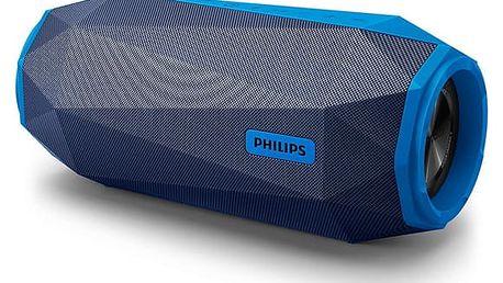 Přenosný reproduktor Philips SB500A/00 modrý Nabíječka Philips SCB 1290P pro AA,AAA v hodnotě 147 Kč + DOPRAVA ZDARMA