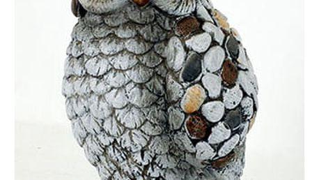 Sova,MgO keramika s kamínky, zahradní dekorace