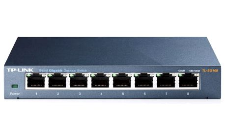 Switch TP-Link TL-SG108 (8 port, Gigabit) (TL-SG108)