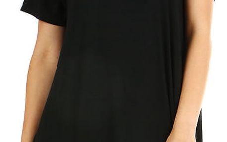 Dámské plážové šaty i pro plnoštíhlé černá