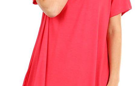 Dámské plážové šaty i pro plnoštíhlé růžová