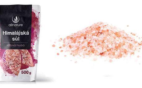 Allnature himalájská růžová hrubá sůl 500g pro zdravější život