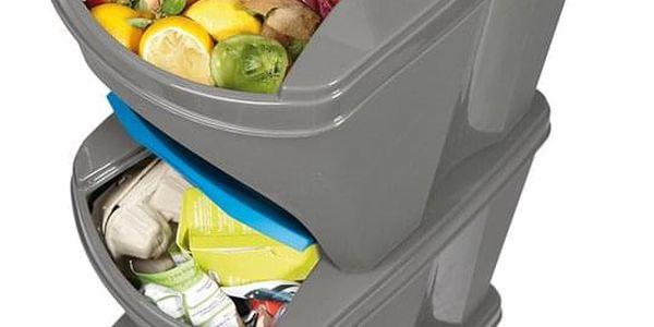 Koš na tříděný odpad Sortibox 20 l, 4 ks, šedá IKWB20S4 405U2
