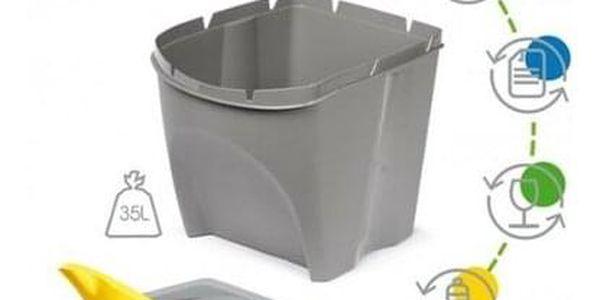 Koš na tříděný odpad Sortibox 20 l, 4 ks, šedá IKWB20S4 405U3