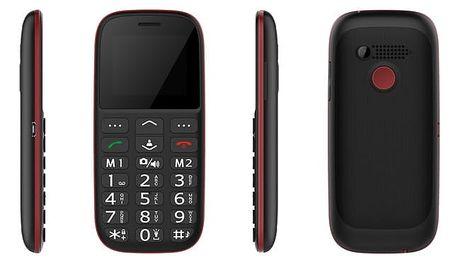 Mobilní telefon CUBE 1 F100 Dual SIM černý/červený (F100)