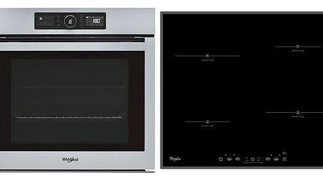 Set (Indukční varná deska Whirlpool ACM 750/ BA) + (Trouba Whirlpool ABSOLUTE OAKZ9 6200 CS IX ) + DOPRAVA ZDARMA