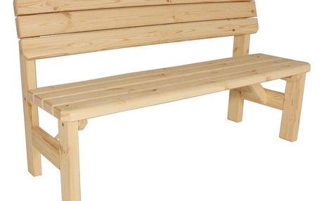 Gaboni Darina 55580 Zahradní dřevěná lavice s opěradlem - bez povrchové úpravy - 150 cm
