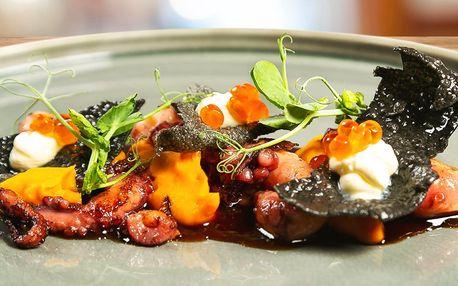 Luxusní degustační menu s kalamáry a chobotnicí