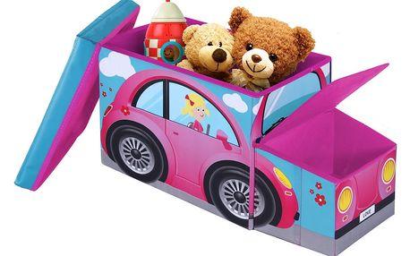 Dětská taburetka s úložným prostorem JOCCA Pink Car