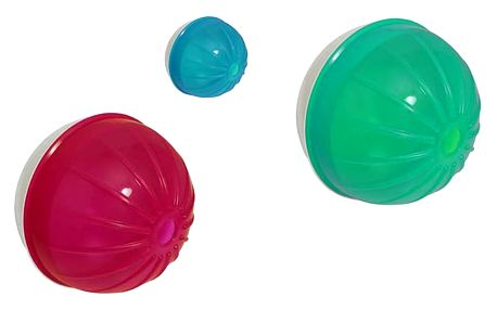 Míček Argi pro psy a kočky s otvorem na granule a jiné pamlsky ve 3 barevných variantách