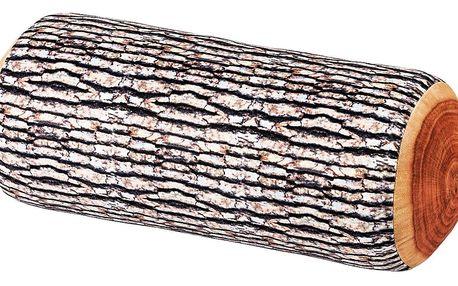 ALDO designový polštář - dřevěné poleno 17 x 37 cm