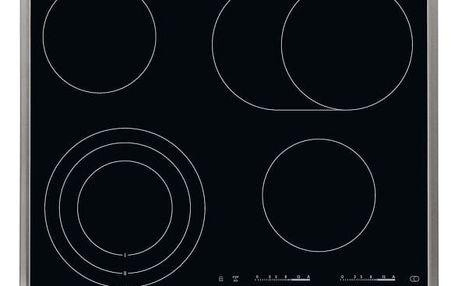 Sklokeramická varná deska AEG Mastery HK654070XB černá/nerez/sklo
