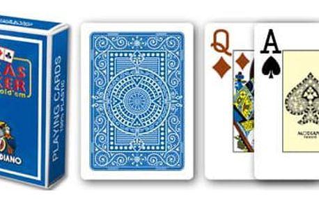 Modiano 2089 100% plastové karty 2 rohy - Modré