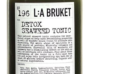 L:A BRUKET Detoxikační koupelové tonikum z mořských řas 240 ml, zelená barva, čirá barva, sklo