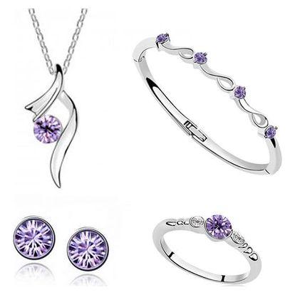 Sada šperků s barevnými krystalky