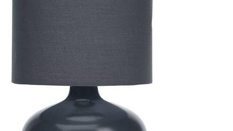 Lampička stolní, keramická - barva černá Home Styling Collection