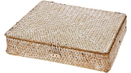 Home Styling Collection Kontejner na drobnosti, organizér, 3 příčky, seagrass
