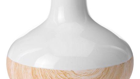 Home Styling Collection Keramická váza WOOD LOOK na umělé květy, dekorace