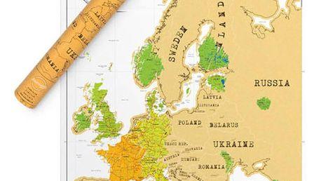 Seškrabávací mapa Evropy Luckies of London