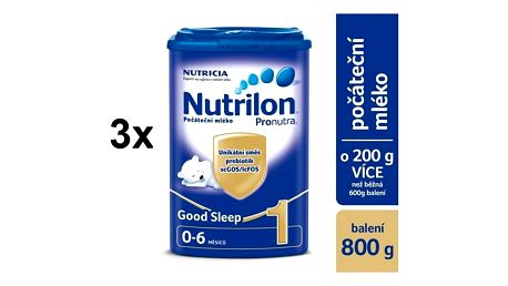 Nutrilon 1 Pronutra Good Sleep 800g x 3ks
