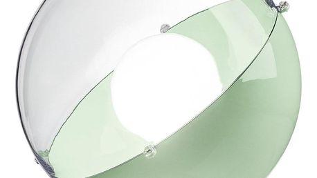 Stojací lampa ORION - barva mentolová s průhledným krytem, KOZIOL