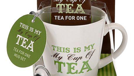 Vánoční dárkový set: hrnek My cup of tea, zelená barva Emako