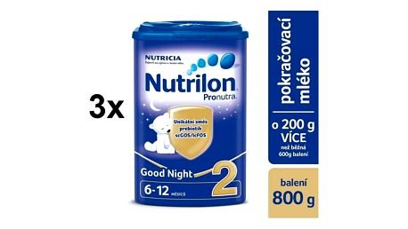 Nutrilon 2 Pronutra Good Night, 800g x 3ks + DÁREK