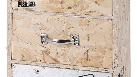 Home Styling Collection Skříňka na drobnosti CARGO - úložný box s 3 zásuvkami