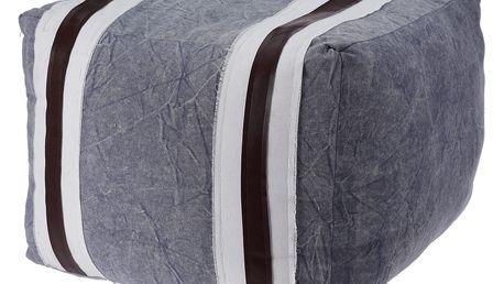 Home Styling Collection Bavlněný taburet, sedátko, opěrka nohou - 45 x 35 cm