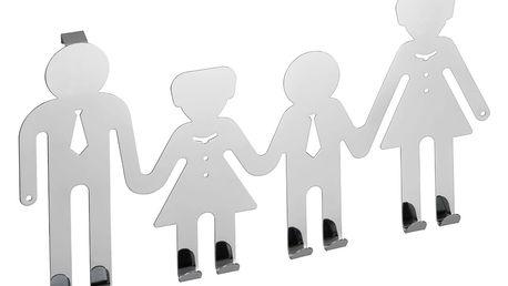 WENKO Věšák na dveře HAPPY FAMILY - 8 háčků v sadě, chromovaná ocel