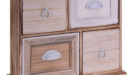 Dřevěná skříňka se zásuvkami na drobnosti, se 4 zásuvkami Home Styling Collection